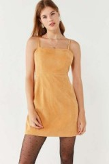 Urban Outfitters Honey Corduroy Straight-Neck Mini Dress – strappy cord dresses