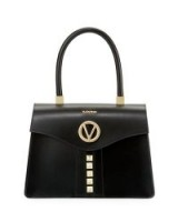 Valentino By Mario Valentino Melanie Soave Leather Satchel Bag / chic handbags