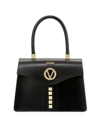 Valentino By Mario Valentino Melanie Soave Leather Satchel Bag / chic handbags