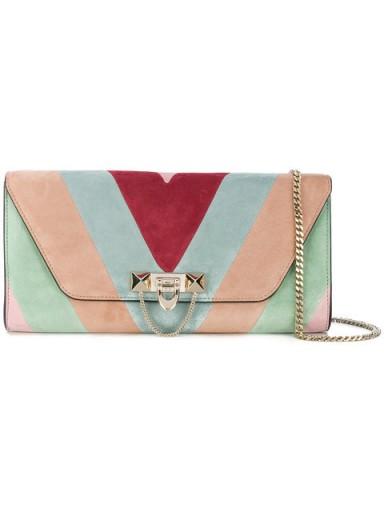Valentino Garavani panelled shoulder bag / multicoloured suede bags