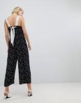 Whistles Limited Mix & Match Spot Print Jumpsuit | back tie jumpsuits