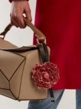 LOEWE X William Morris flower bag charm ~ floral handbag charms ~ designer bag accessories