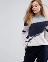 Y.A.S Glitter Swirl High Neck Knitted Jumper