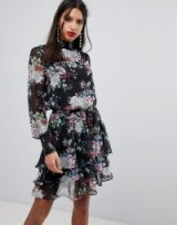 Y.A.S High Neck Bold Floral Dress | floaty party dresses