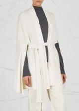 LE KASHA Yatomi ivory cashmere cape ~ ivory cardigan-capes ~ stylish knitwear