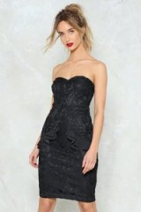NASTY GAL Your Party Trick Lace Strapless Dress – lbd