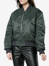 Acne Studios Ruched Bomber Jacket | casual green jackets