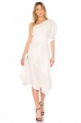 Aje AMATAE DRESS WHITE – one shoulder asymmetric hem party dresses