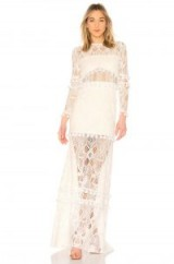 Alexis THORA DRESS – long white sheer lace dresses