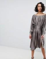 AllSaints Metallic Dress / slinky dresses
