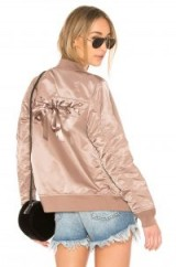 ALPHA INDUSTRIES LACED BOMBER JACKET Mauve – nylon weekend jackets – silky luxe style