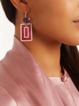 FRANCESCA VILLA Amethyst & yellow-gold Easy Living earrings ~ luxe statement jewellery