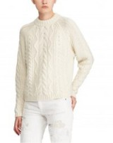 Polo Ralph Lauren Aran-Knit Wool-Blend Sweater / cream jumpers