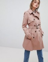 ASOS Pink Classic Trench Coat ~ belted macs