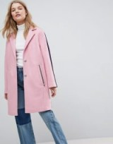 ASOS Sports Tipping Coat ~ pink stripe detail coats