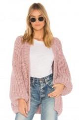 AYNI CRISTELLE OVERSIZED CARDIGAN ROSE – chunky pink cardigans