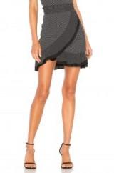 AZULU GIULIANA SKIRT Black White Dots – polka dot wrap skirts