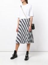 BALENCIAGA Sunray Pleated Skirt   striped spring skirts