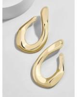 BAUBLEBAR AVANI DROP EARRINGS | large gold-tone statement jewellery