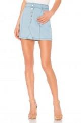 JACK BY BB DAKOTA KESHA SKIRT Washed Out Chambray – light blue denim mini skirts