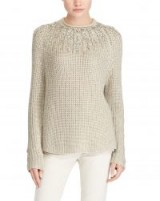 Polo Ralph Lauren Beaded Rollneck Sweater Metallic Taupe / bead embellished jumpers