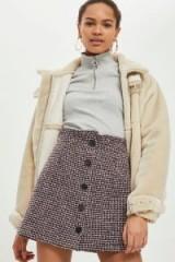 Topshop Boucle Frill Waist Skirt   A-line skirts