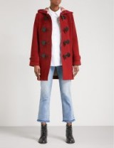 BURBERRY Mersey wool-blend duffle coat in Parade Red – winter coats with style