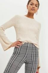 Topshop Cashmere Blend Flute Sleeve Jumper | chic neutral knits