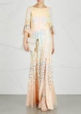 TEMPERLEY Celestial sequinned chiffon gown ~ luxe embellished gowns ~ beautiful event dresses