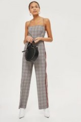 Topshop Checked Jumpsuit | strappy back jumpsuits