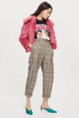 Checked Mensy Trousers | cropped leg relaxed fit pants