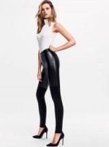 Wolford Cherilyn Leggings in black | part leather look skinny pants