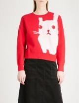 CHOCOOLATE Rabbit knitted jumper | red bunny jumpers
