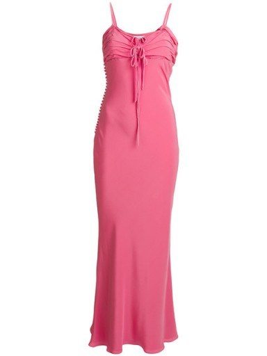 CHRISTIAN DIOR VINTAGE long dress – pink strappy maxi dresses - flipped