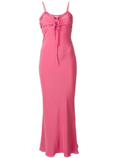 CHRISTIAN DIOR VINTAGE long dress – pink strappy maxi dresses