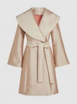 CO‎ Bonded Satin-Twill Coat | luxe wide lapel coats | chic belted outerwear