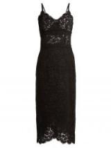 DOLCE & GABBANA Cordonetto scallop-edged black lace dress ~ beautiful Italian dresses