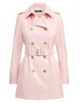 Lauren Ralph Lauren Cotton-Blend Trench Coat English Blush / pink belted macs