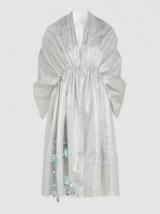 DELPOZO Appliquéd Striped Metallic Woven Coverup | oriental style coats