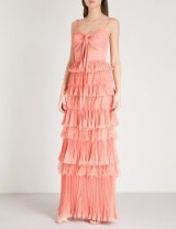 ELIE SAAB Tiered lace gown in Sunset ~ event gowns