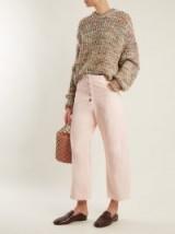 RACHEL COMEY Elkin mid-rise wide-leg jeans ~ nude-pink cropped pants
