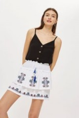 Topshop Embroidered Tiered Mini Skirt   pretty spring skirts