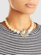 ERICKSON BEAMON Delicate Balance Embellished Gold-Plated Necklace ~ chic statement necklaces