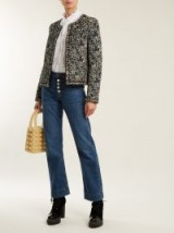 ALEXACHUNG Exposed-button kick-flare jeans ~ denim with style