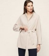 Reiss FARROW WRAP COAT CASHEW / coats with style
