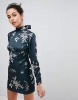 Finders Floral Mini Dress – open back party dresses