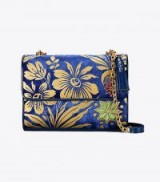 TORY BURCH FLEMING FLORAL CONVERTIBLE SHOULDER BAG Velvet Cosmic Floral ~ beautiful bags