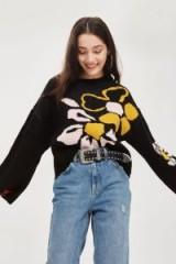 Topshop Floral Jacquard Wide Sleeve Jumper | bold pattered jumpers