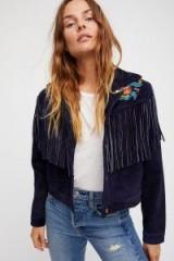 Alyssa Miller for Understated Leather Fringe Jacket