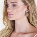 SAMANTHA WILLS MONTAGUE & CAPULET TEARDROP EARRINGS | turquoise stone boho jewellery